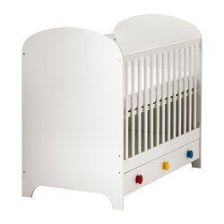 IKEA - GONATT, Babybedje, , Bedbodem op 2 hoogtes te monteren.Als het kind zelf in/uit bed kan klimmen, kan 1 bedzijkant worden verwijderd.Je kind kan veilig en comfortabel slapen omdat de slijtvaste materialen in de bedbodem zijn getest om het lichaam de juiste ondersteuning te geven.Bedbodem met goede ventilatie en goede luchtcirculatie, voor een comfortabel slaapklimaat voor je kind.