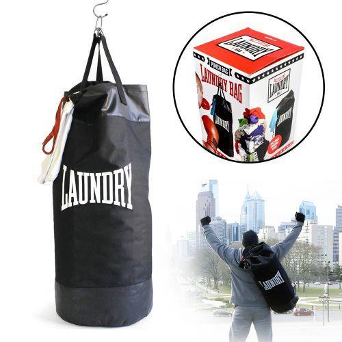 Der Boxsack - Wäschekorb ist eine ausgefallene Geschenkidee für Mann oder Frau für den heimischen Workout. So kann Waschen Spaß machen!