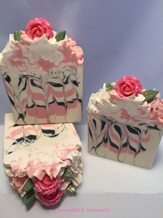 Every Rose Has It's Thorn Artisan Soap / Cold Process Soap / Organic Soap / Mother's Day Soap / Rose Soap