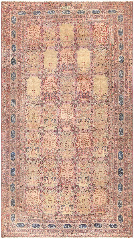 Antique Persian Kerman Carpet, Country of Origin / Rug Type: Persian Rugs, Circa Date: 1900 16 ft 5 in x 29 ft 6 in (5 m x 8.99 m)