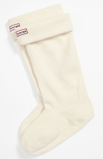 Hunter Fleece Welly Socks available at #Nordstrom in white