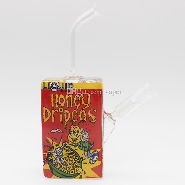 2015 Newest 4.5 Height Red Honey Dripeos Liquid Sci Glass Oil Dab Rigs Cereal Box 14MM Male Joint with Glass Domeless Nail Smoking Pipe Online with $8.2/Piece on Vaper's Store | DHgate.com