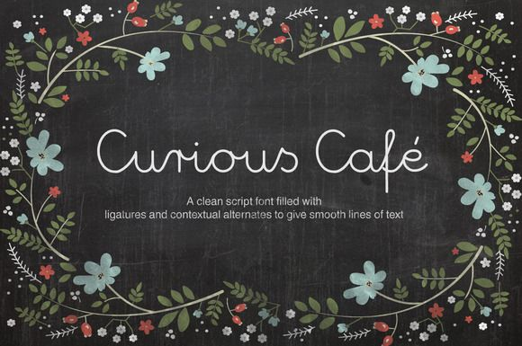 Curious Cafe Script by DesignLocket on Creative Market