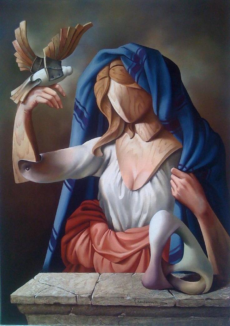 """Vito Campanella """"Recuerdos románticos"""" Óleo 70 x 50 cm."""