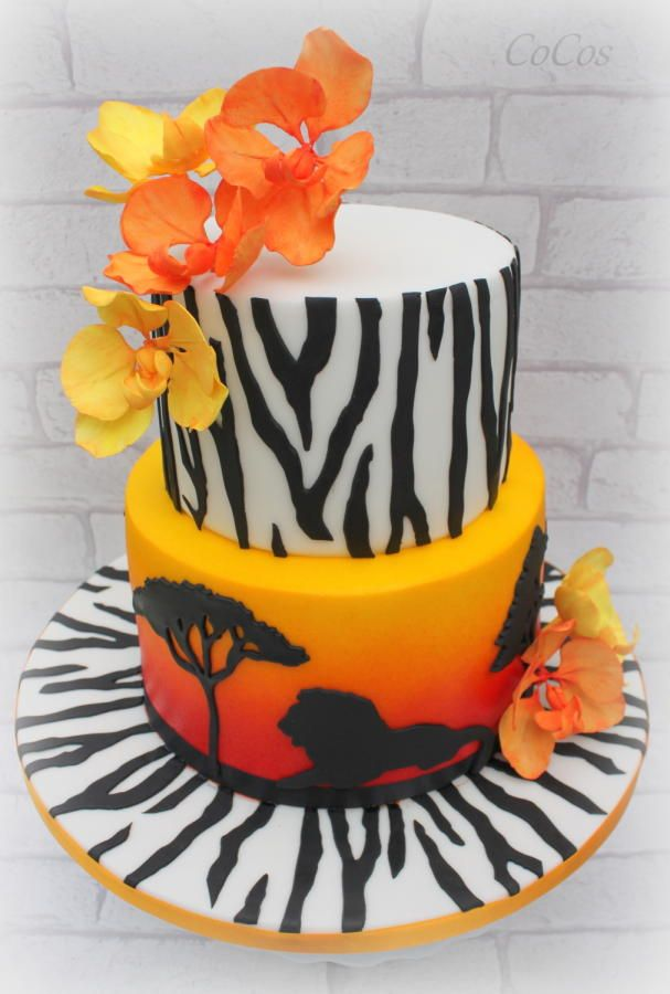 African Sunset Cake By Lynette Brandl Cakes Amp Cake