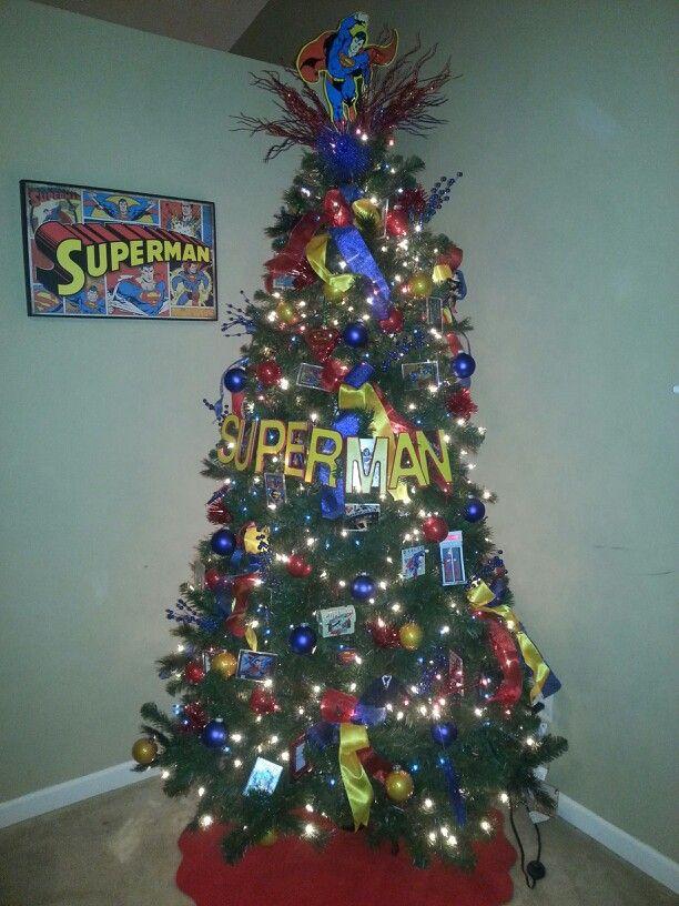 Superman Christmas tree | Superman Christmas | Pinterest | Christmas, Christmas  Tree and Christmas tree decorations - Superman Christmas Tree Superman Christmas Pinterest Christmas