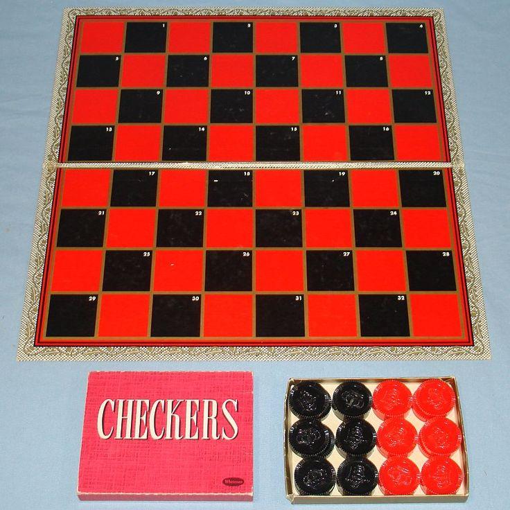 1960S Toys | vintage 1960 whitman checkers game 4708 100 checkerboard vintage 1960 ...
