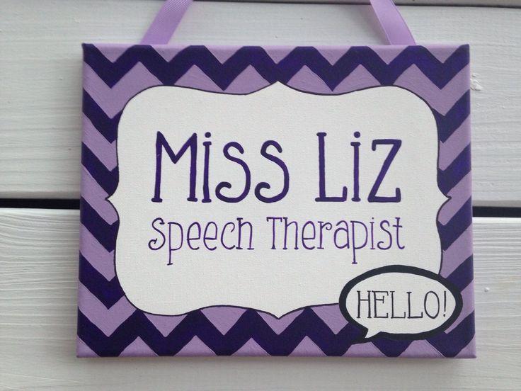 Speech Therapist Name Sign, Speech Therapy Door Sign, Door Hanger, Office  Door Sign, Speech Room, Teacher Door Sign, Therapist Gift
