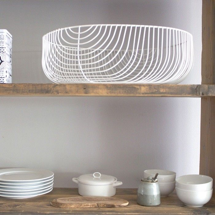 White Wire Storage Baskets from A+R Store in LA | Remodelista