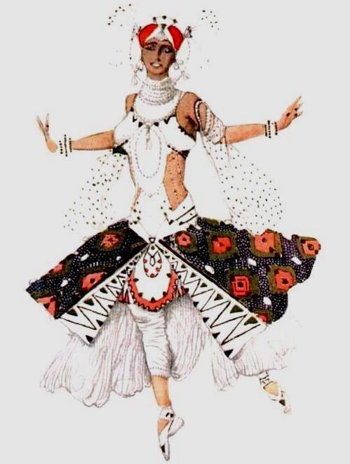 +Эскиз костюма к балету Голубой бог - Невеста, 1912 (499x661, 175Kb)