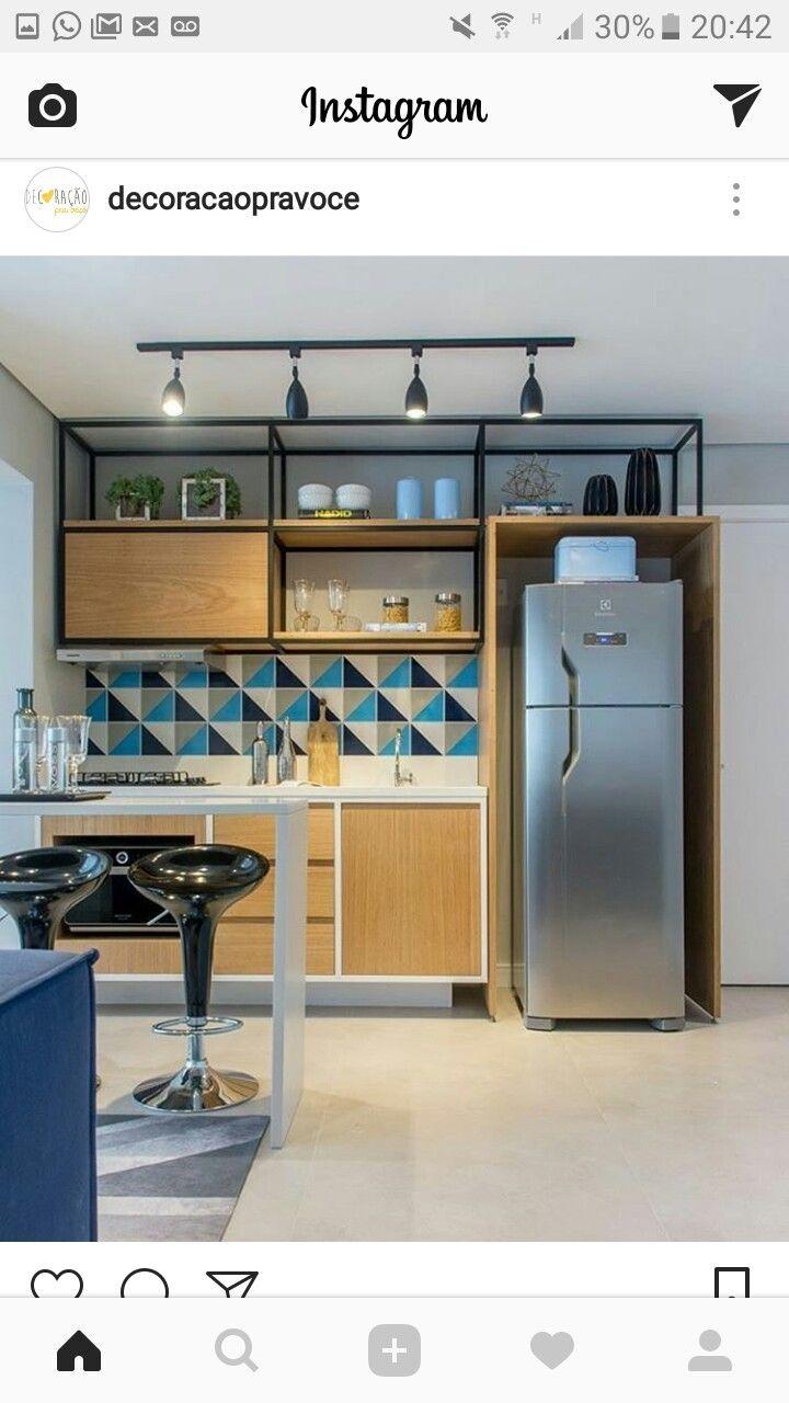 19 best copa e cozinha images on Pinterest   Beach kitchens, Blue ...
