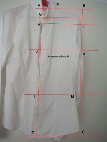 dessiner un patron à partir d'un vêtement existant