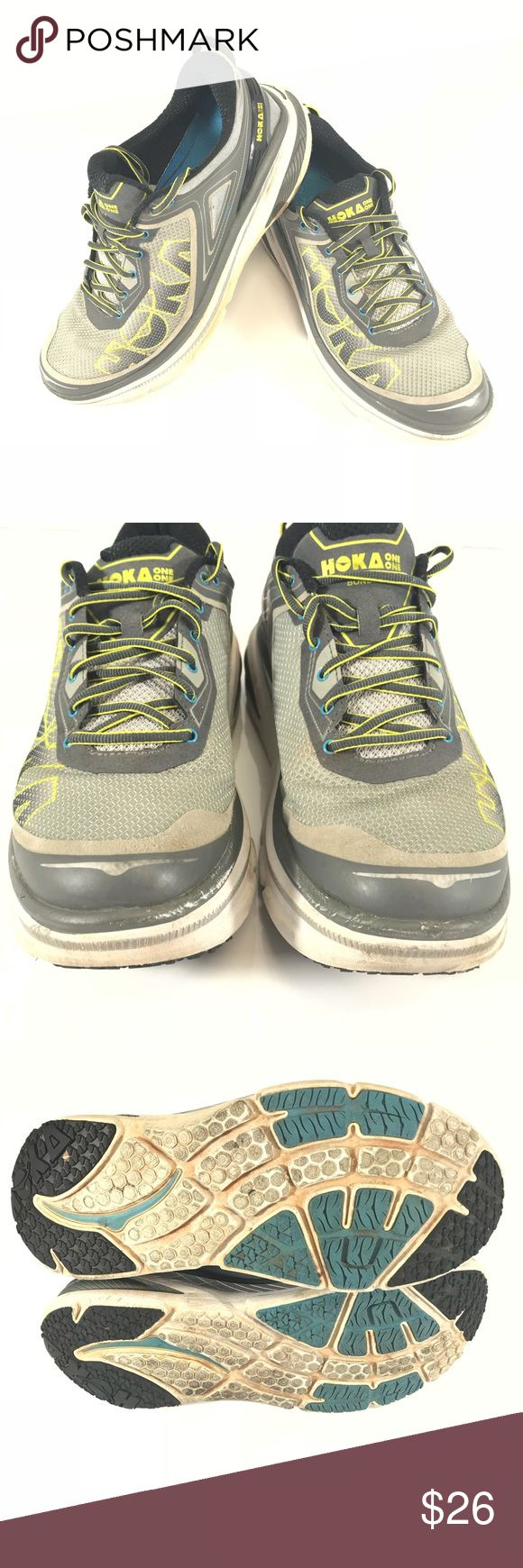 🏃🏼♂️Hoka one one BONDI4 Runing Shoes size :12 they require cleaning only  🏃🏼♂️Hoka one one BONDI4 Runing Shoes size :12 Good condition ✅👟🏃🏼♂️ Fast Shipping ✅📬 Shoes Athletic Shoes