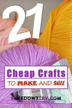 21 billige Kunsthandwerke zum Basteln und Verkaufen!   – DIY Handwerk zu verkaufen
