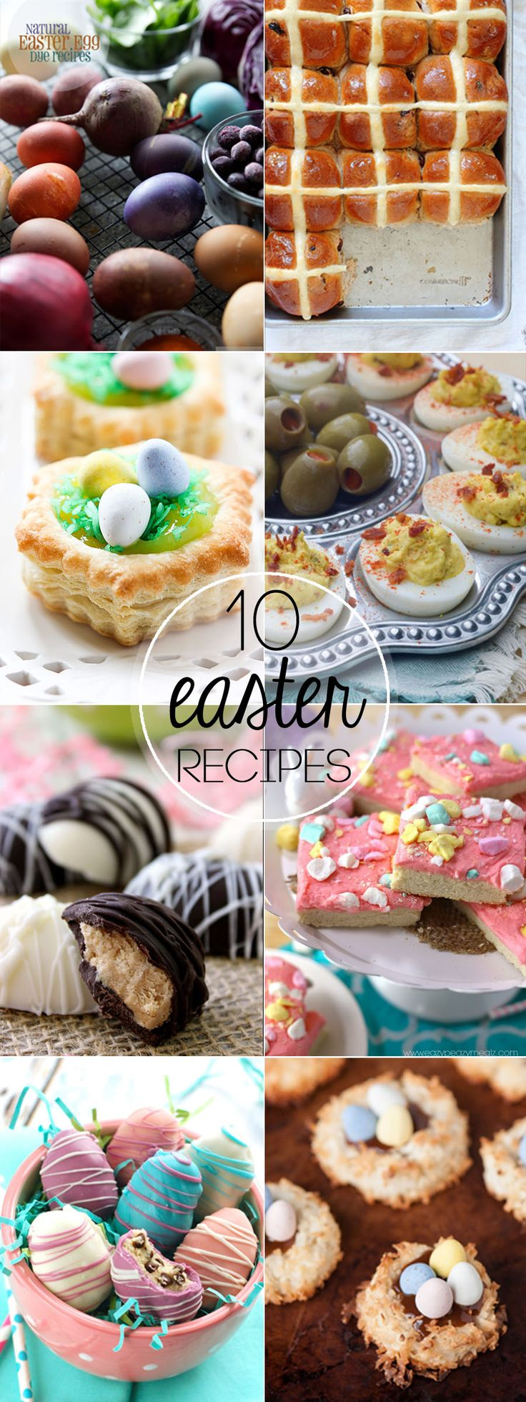 This collection of our Top 10 Easter Recipes will wow everyone. From the cutest eggs to Hot Cross Buns, this list will not disappoint! | mandysrecipeboxblog.com
