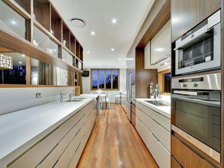 Proper galley with existing hallway