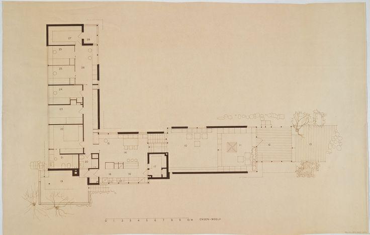 Digitalt Museum - Hus for Engen. Første etasje [Plantegning]
