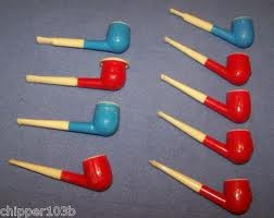 Bubble pipes. Can still taste the bubbles!