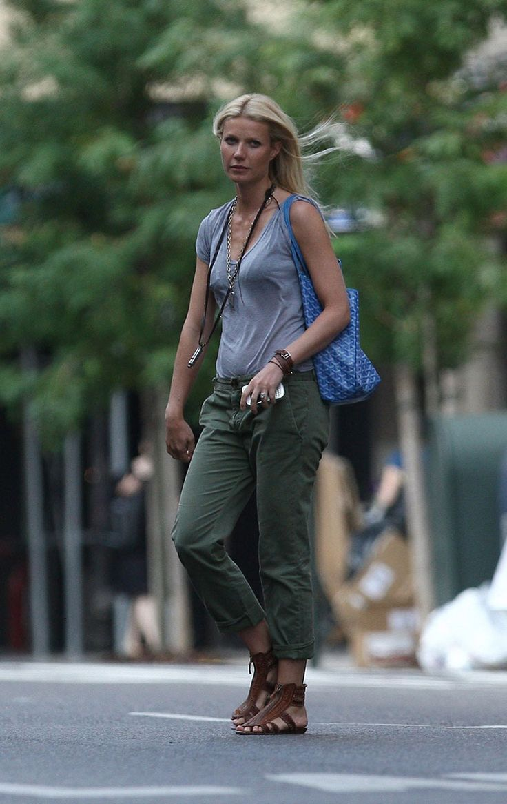 Gwyneth Paltrow Street Style Gp Pinterest Army Green Pants Gwyneth Paltrow And Green Pants