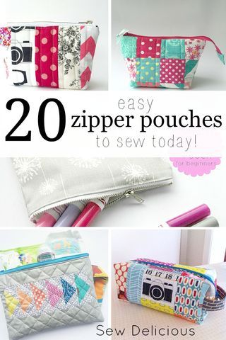 There is no doubt one of my favourite things to sew are zipper pouches! They are quick, fun, can be made in a huge variety of designs and they are super useful. Here are 20 of my favourite zipper po