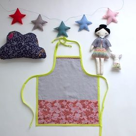DIY Handmade Apron and Dollies for Kids