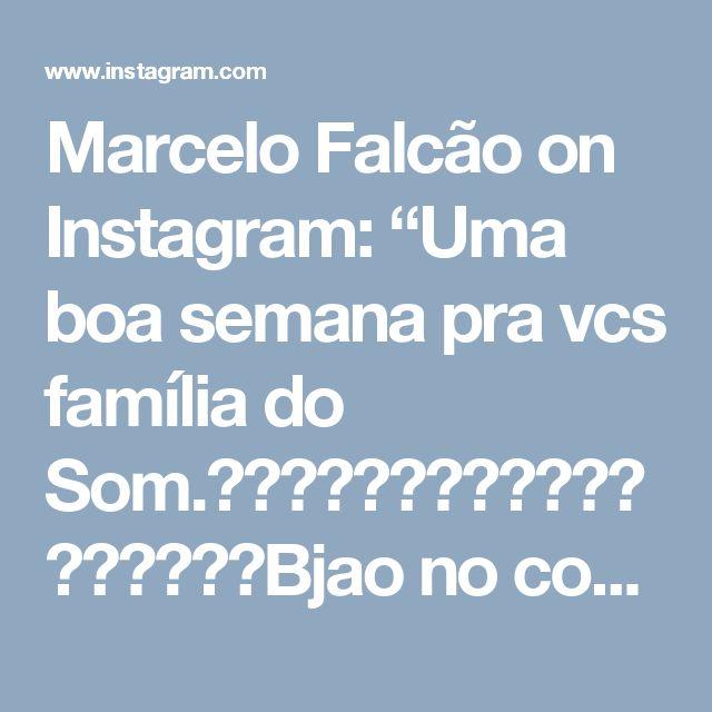 """Marcelo Falcão on Instagram: """"Uma boa semana pra vcs família do Som.☀️☀️☀️✨✨✨☀️☀️☀️🙏🙏🙏Bjao no coração de geral.🔊🔊🔊No Som bem alto O Rappa ACUSTICO FRANCISCO BRENNAND💥💥💥💥💥💥💥💥💥"""""""