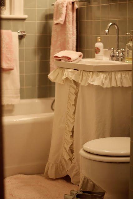 Sink skirt | For the Home | Pinterest