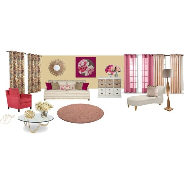 """Female living room"" by viktoria-vepy on Polyvore"