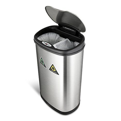 NINESTARS The Original Touchless Automatic Motion Sensor Trash Can/Recycler //Price: $37.81 & FREE Shipping //     #cheflife #TheKitchen #Chopped #MexicanMadeEasy #9Kitchen