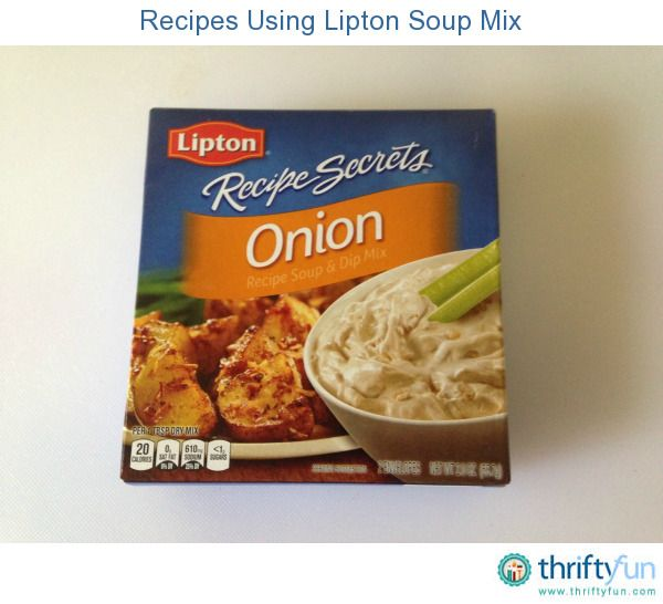 This page contains recipes using Lipton soup mix. Many different main dishes and sauces can be quickly and easily enhanced, marinated or seasoned with soup mixes.