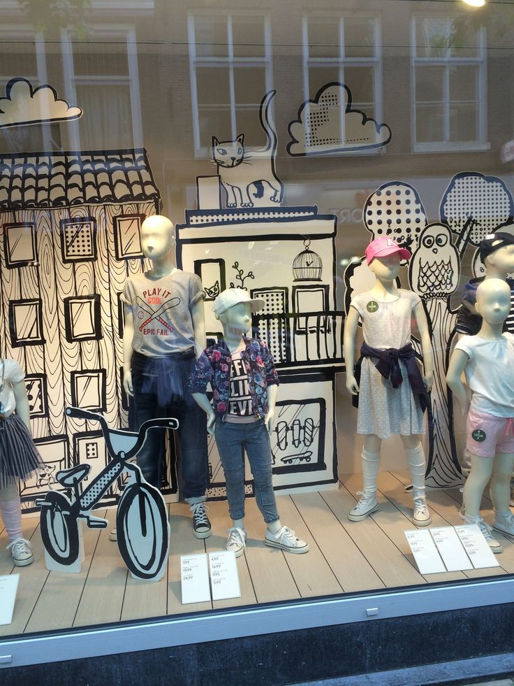 "H&M Back to School, ""First Day of School"", pinned by Ton van der Veer"
