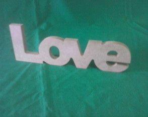 LETRAS MDF CRU DE MESA LOVE