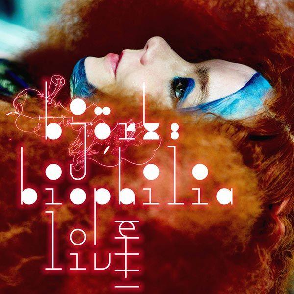 """Björk - Biophilia El proyecto """"Biophilia"""" consiste en un album, aplicaciónes, sitio de web, instrumentos musicales, espectáculos, un documentario, un programa educacional y una grabacion en vivo. Combina temas de música, naturaleza y tecnología. Me interesa el potencial educacional de Biophilia. Cada cancion tiene una aplicación que enseña temas de música y de naturaleza. http://www.biophiliathefilm.com/#biophilia"""