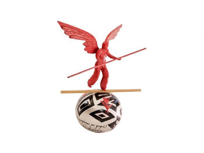 Angel Acrobat on Ball