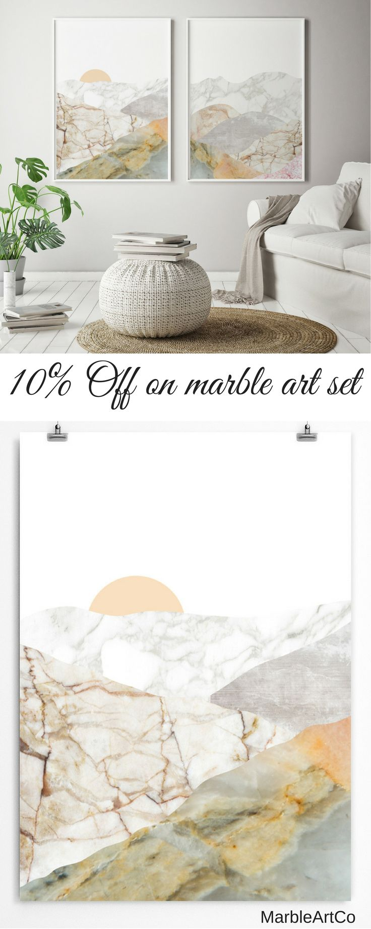 77 best Marble Art Prints For Nursery And Living Room images on ...