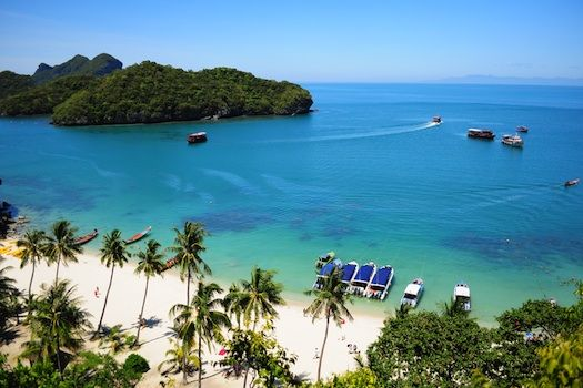 Romantic Getaway: W Retret, Koh Samui, Thailand © siriwats, 2013. Used under licence from Shutterstock.com @cheapflights