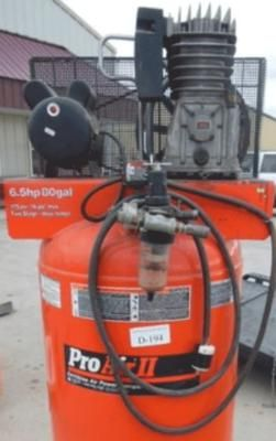 DeVilbiss Pro Air II: Hi Bill, I recently saw a DeVilbiss Pro Air II, 6.5 HP, 80 gallon, 175 psi, two-stage vertical air compressor similar to the one in the photo, and I am