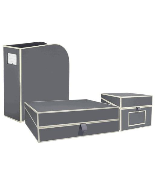 Semikolon Decorative Office Boxes By Pierre Belvedere   Gray