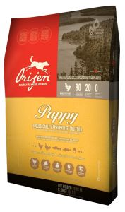 ORIJEN Puppy delivers a symphony of cage-free Cobb chicken and turkey, whole nest-laid eggs and wild-caught fish - all farmed or fished within our region and delivered to our kitchens FRESH each day, so they're brimming with goodness to nourish your puppy completely.