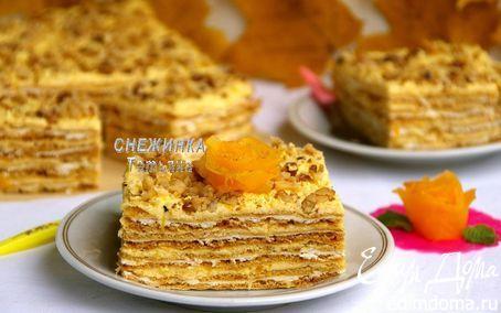 Тыквенно-творожный торт «Осенняя мелодия» | Кулинарные рецепты от «Едим дома!»