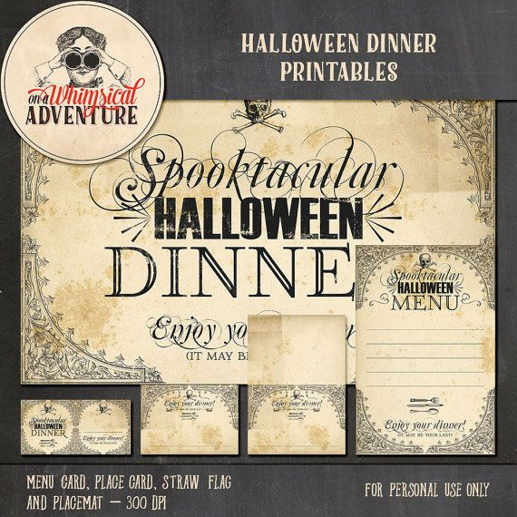 Halloween dinner party digital download by AWhimsicalAdventure