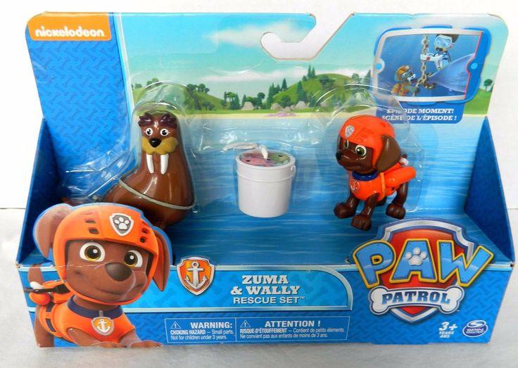 NEW Paw Patrol  Zuma & Wally Rescue Set Spinmaster toy