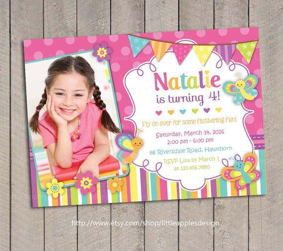 Butterfly Invitation / Butterfly Birthday Invitation / Butterfly Invite / Butterfly Invitation Printable / Purple Butterfly Invitation by LittleApplesDesign