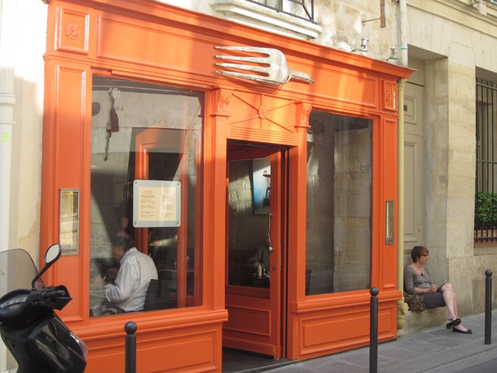 restaurant exterior, St. Germain des Pres, Paris