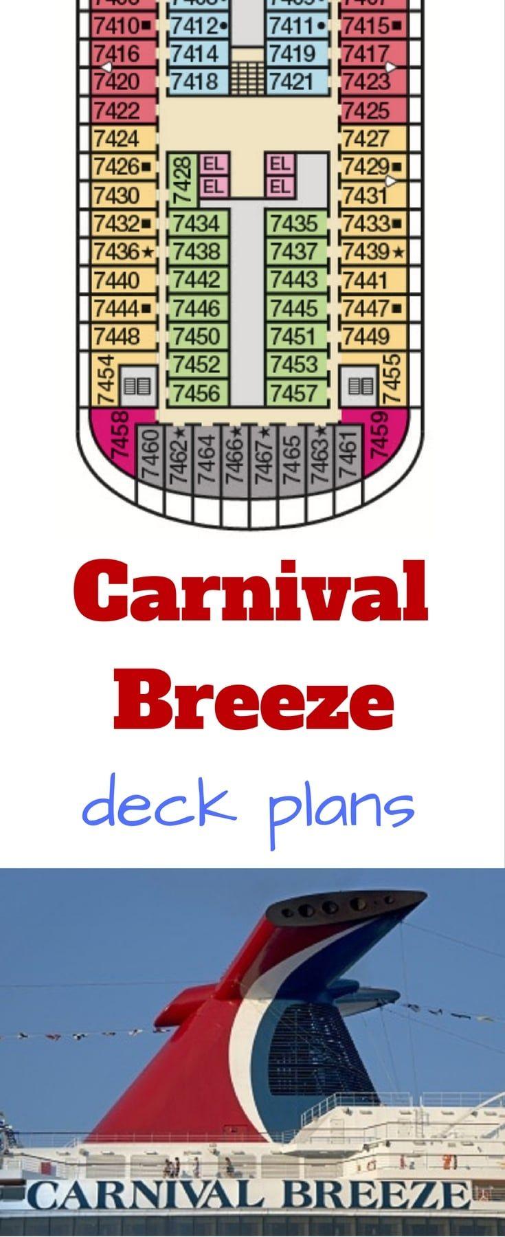 180 best carnival cruise line images on pinterest carnivals carnival breeze deck plans baanklon Images