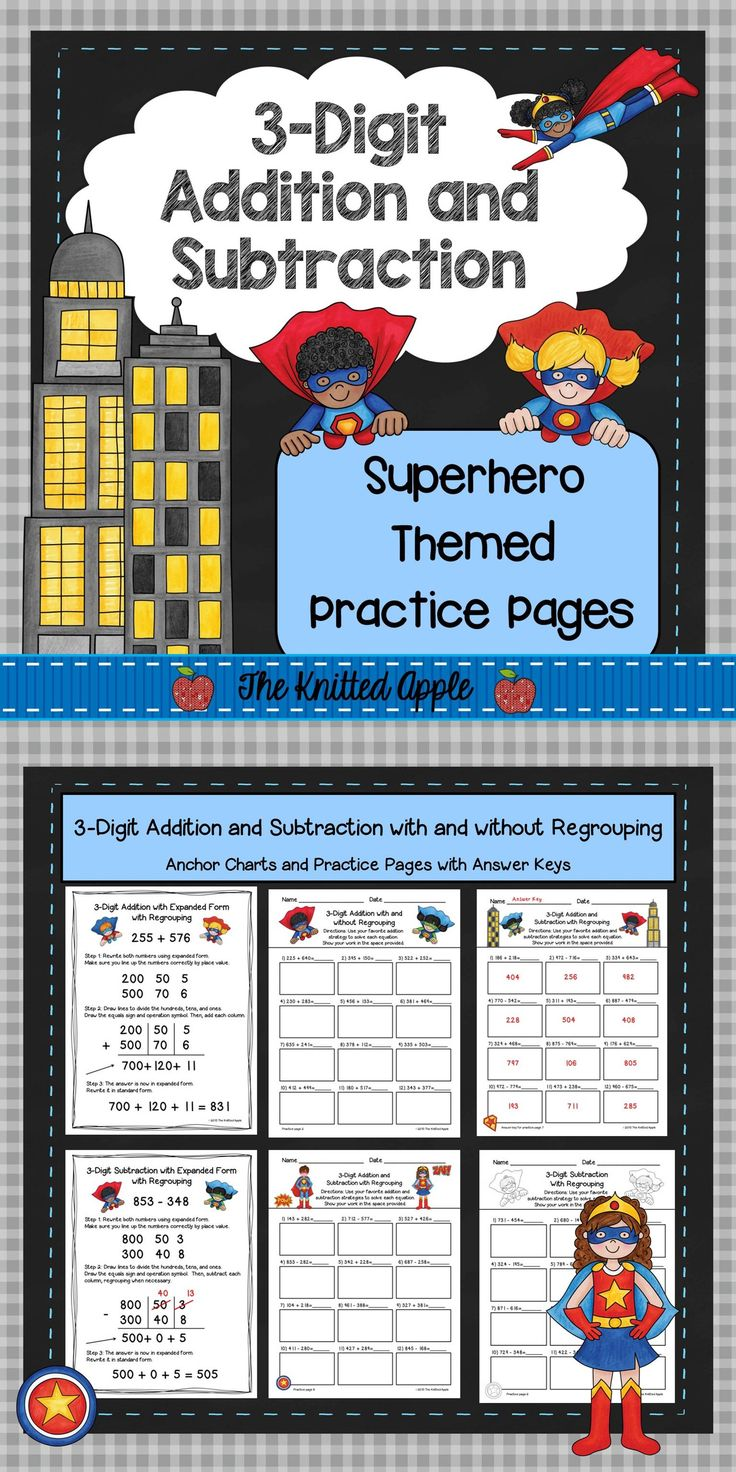 52 best 3-Digit Addition images on Pinterest | Math activities ...