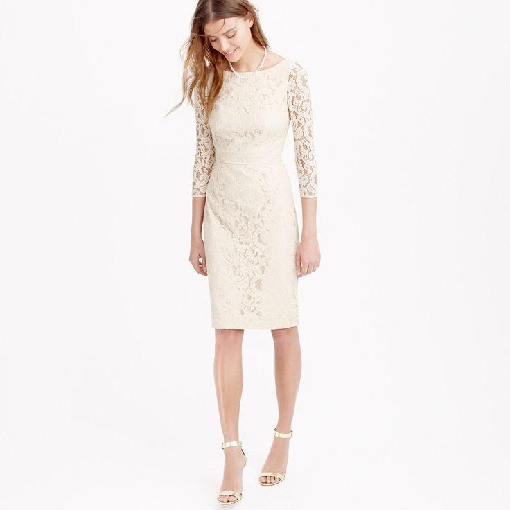 Natalia dress in Leavers lace : lace | J.Crew