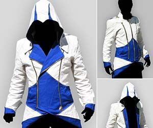 Shave that neckbeard, arm yourself with a hidden blade or two, and prepare to look like a real life Assassin. This Assassin's Creed hoodie is perfect for concealing yourself after a high profile kill with its retractable hoodie, and is a must have collector's piece for gamers.  Buy It  $320.00