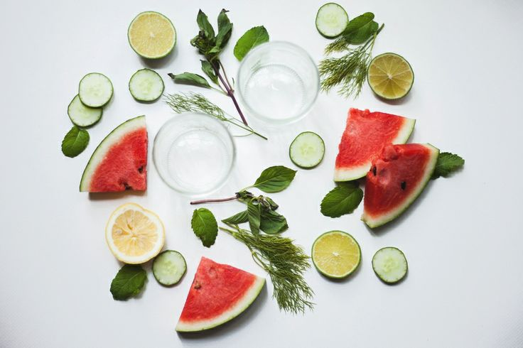 Watermellon, lime cucumber, mint, infused water. Photo by Dara Muscat