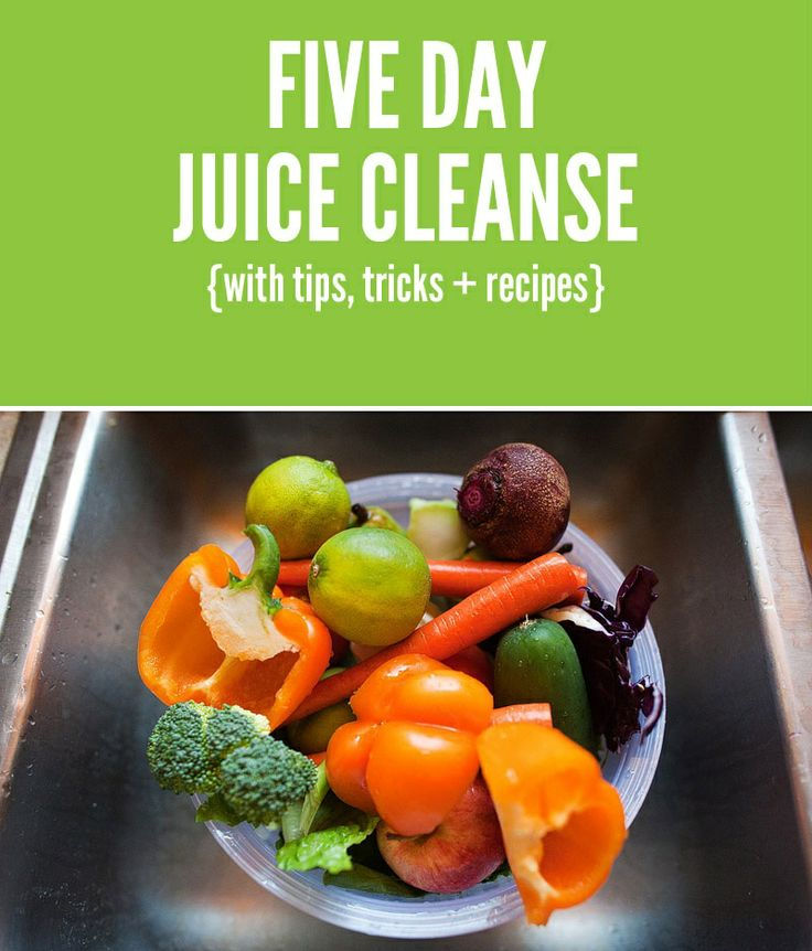 Five Day #Juice #Cleanse | Healthy Food | Pinterest